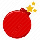 Red Christmas Baubles icon